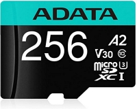 A-DATA UHS-I U3 MicroSDHC 256GB V30S class 10 + adapter AUSDX256GUI3V30SA2-RA1
