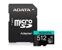 A-DATA UHS-I U3 MicroSDXC 512GB V30S class 10 + adapter AUSDX512GUI3V30SA2-RA1