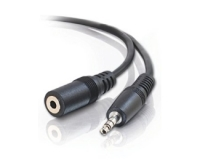 E-GREEN Kabl audio 3.5mm - 3.5mm M/F (produžni) 2.5m crni