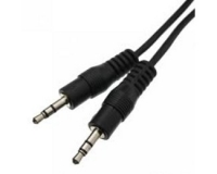 E-GREEN Kabl audio 3.5mm - 3.5mm M/M 1.2m crni